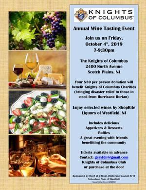 Knights of ColumbusWine Tasting Event