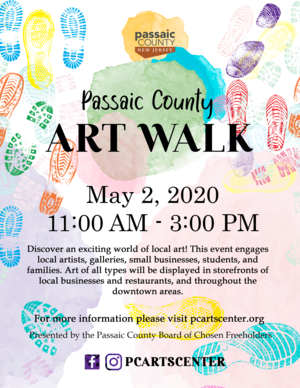 Flyer, Passaic County Art Walk, May 2020.png