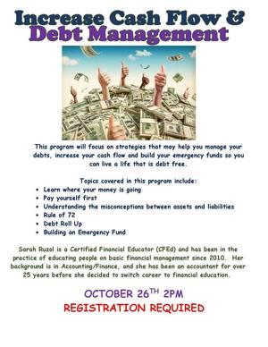 Debt Management Flyer