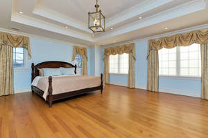 Master Suite with 2 custom walk-in closets and Master Bath