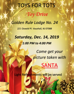 Golden Rule Lodge Toys For Tots