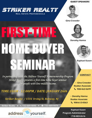 Striker Realty First Time Home Buyer Seminar