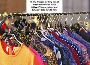 Thrifty Threads fundraiser 6/21 and 6/22 in Succasunna