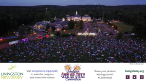 July 4th event banner with aerial photo