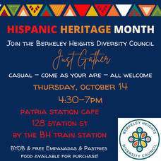 Berkeley Heights Diversity Council, BHDC, Diversity, Berkeley Heights, Hispanic Heritage Month,