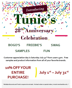 Customer appreciation in July at Tunie's Market in Coral Springs in honor of the store's 28th anniversary.