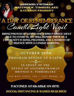 A Candle Light Vigil for All Community Members Who Died from COVID-19