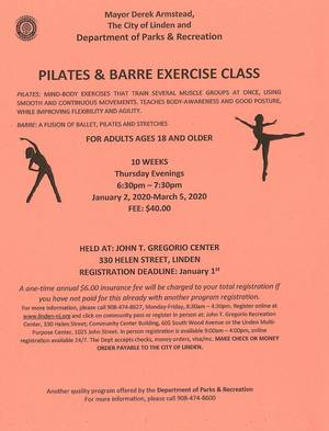 Pilates & Barre Exercise Class