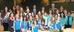 Carousel image b0a4853353b8dfa88c36 a girl scouts with the township committee  2018 tapinto montville