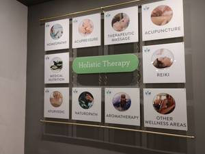 Deep Wellness Center Brand Wall
