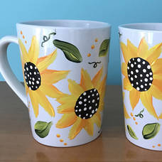 Sunflower Mug Painting Workshop on Tuesday, February 26