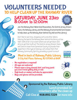 Rahway River Cleanup Flyer