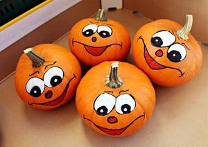 Pumpkin Painting and Other Activities for the Kids
