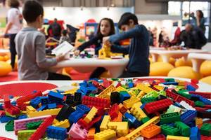 Kids with Legos