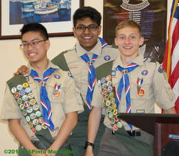 Carousel image d1c189dd2ae405d5f462 a eagle scouts keith lo  charlie roy  and harish rajagopal  2018 tapinto montville    3.