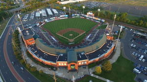 Ballpark shot from the drone