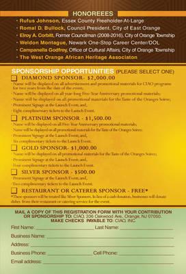 Invitation - Honorees/Sponsorships
