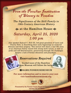 Flyer, Samuel Still Lecture, April.png