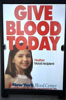 Give Blood Sign