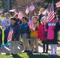 Trinity Christian School students commemorate Veterans Day 2016 ©2018 TAPInto Montville