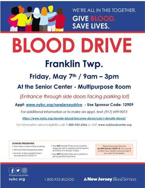 Franklin Twp. Blood Drive flyer 5-7 in this together + can donate link.jpg