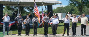 Carousel image f5eff8ab187d2a08ab12 the 2017 flag salute by the vfw and police explorers  2018 tapinto montville
