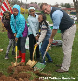 Carousel image fc17a93334b8f190e4f6 a the poster contest winners and honoree paul rolfe get ready to plant the apple tree  2018 tapinto montville    1.