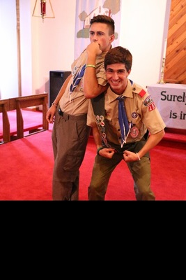 Ryan Balemian and fellow Eagle Scout Andrew Smith