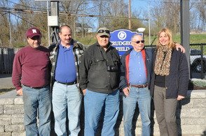 Thomas Trudgeon, Sr., with members of the recreation commission.