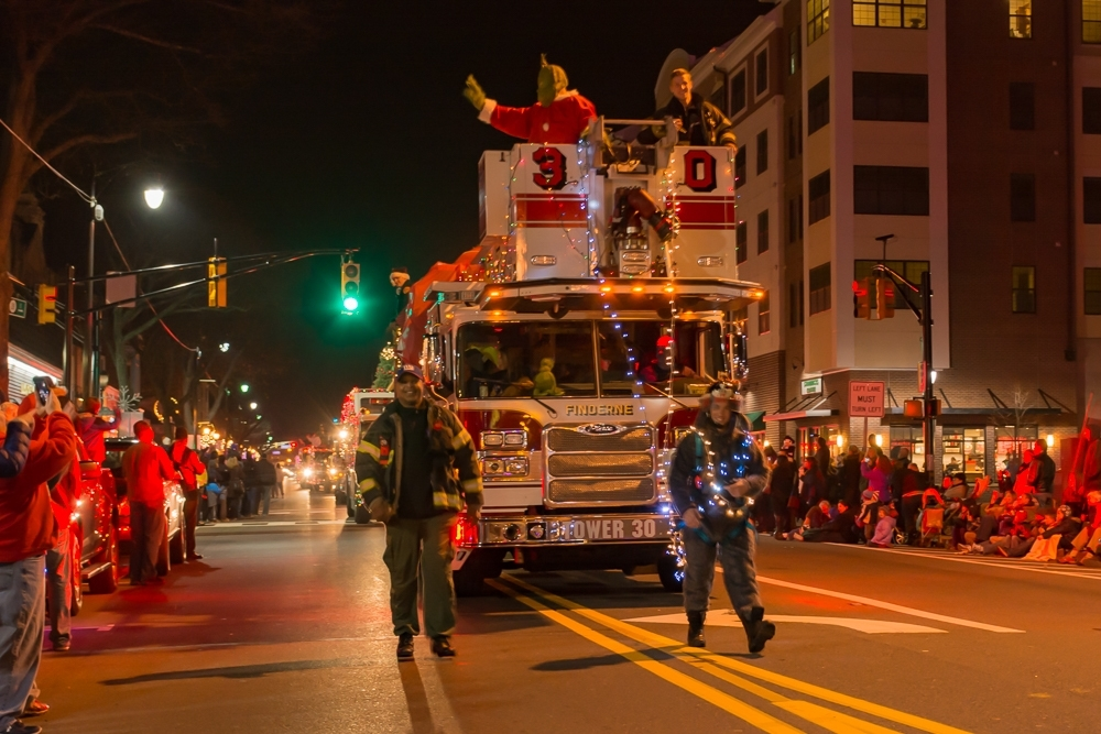Fire Trucks Trimmed in Strings of Lights for Annual Somerville ...