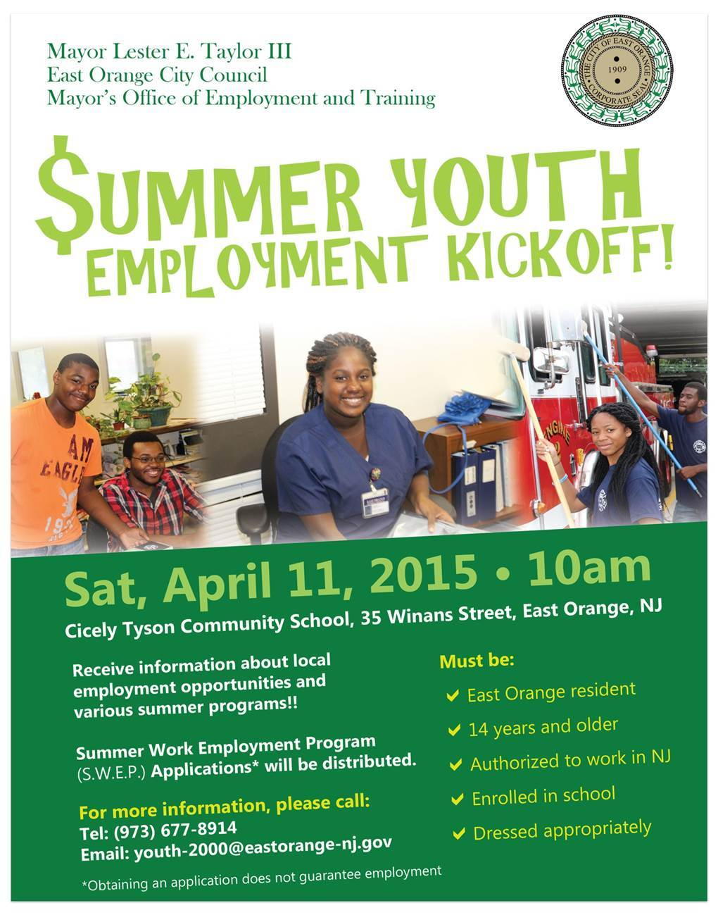 east orange summer youth employment kick off news tapinto content options