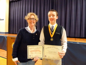 St. Rose student places third.