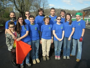 Scouting Venture Crew group photo before starting work on the roads