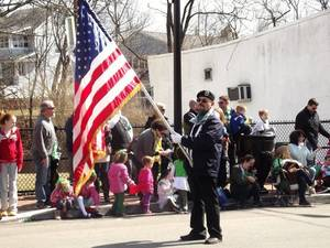 Gary at the West Orange St. Patrick's Day Parade with VFW Post 376 in 2013.