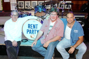 Chris Dickson, Bill Ellers and Dave Wagner of Rent Party