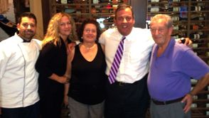 Governor Christie Lunches at Ferraro's