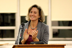 Board of Education President, Beth Daugherty