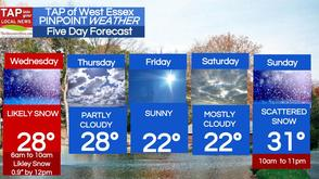 Less than an Inch of Snow Wednesday Morning; West Essex Area Weather for Feb. 26, photo 1