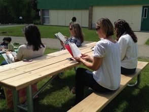 Teachers also participated in Relax and Read