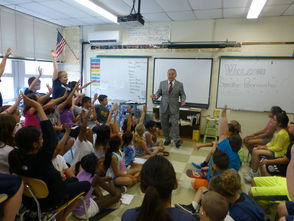 Senator Pennacchio Visits Cedar Hill Elementary