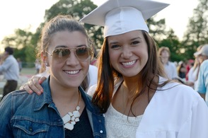 alum Maria Krup with graduating sister Monica Krup