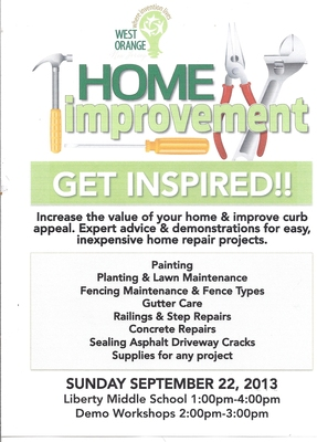 West Orange Town Picnic and Home Improvement Workshop Set for Sept. 22 at Liberty Middle School, photo 1