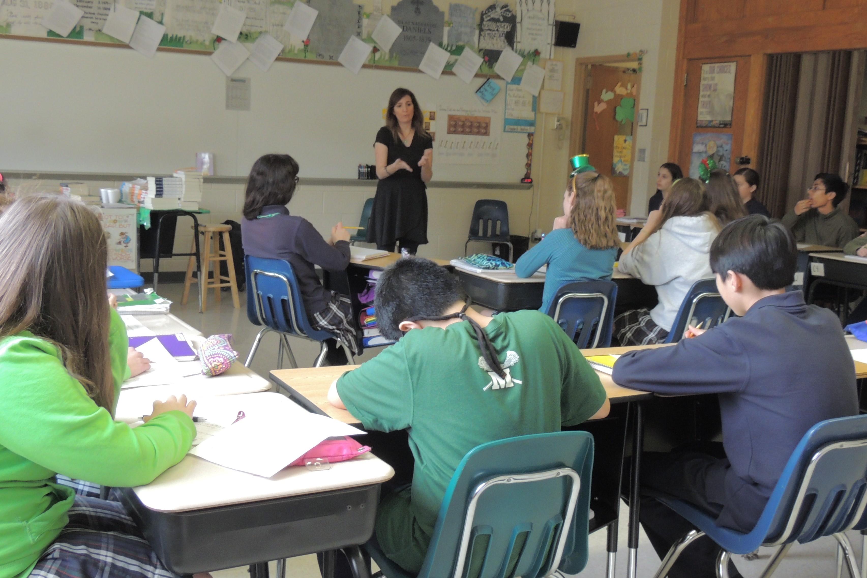 teaching high school creative writing class