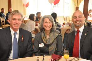 Robert B. Nicholson, III, Jocelyn Gilman, and Jason Sarnoski, at the breakfast.