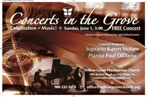 Acclaimed Soprano Karen Notare and Pianist Paul DiDario to Perform Concert at Willow Grove Church June 1, photo 1