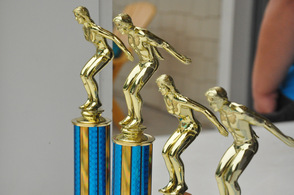 Trophies for top boy and girl teams.