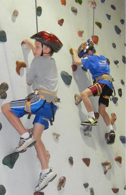Rock climbing at the Westfield Area Y.