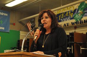 Sylvia Petillo, Hopatcong Borough Mayor, nominates George Graham.