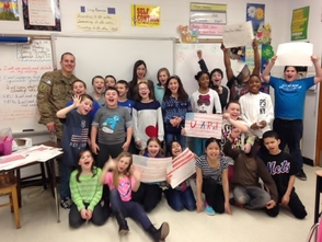 Mrs. Moschella's Class and A Soldier's Visit , photo 1