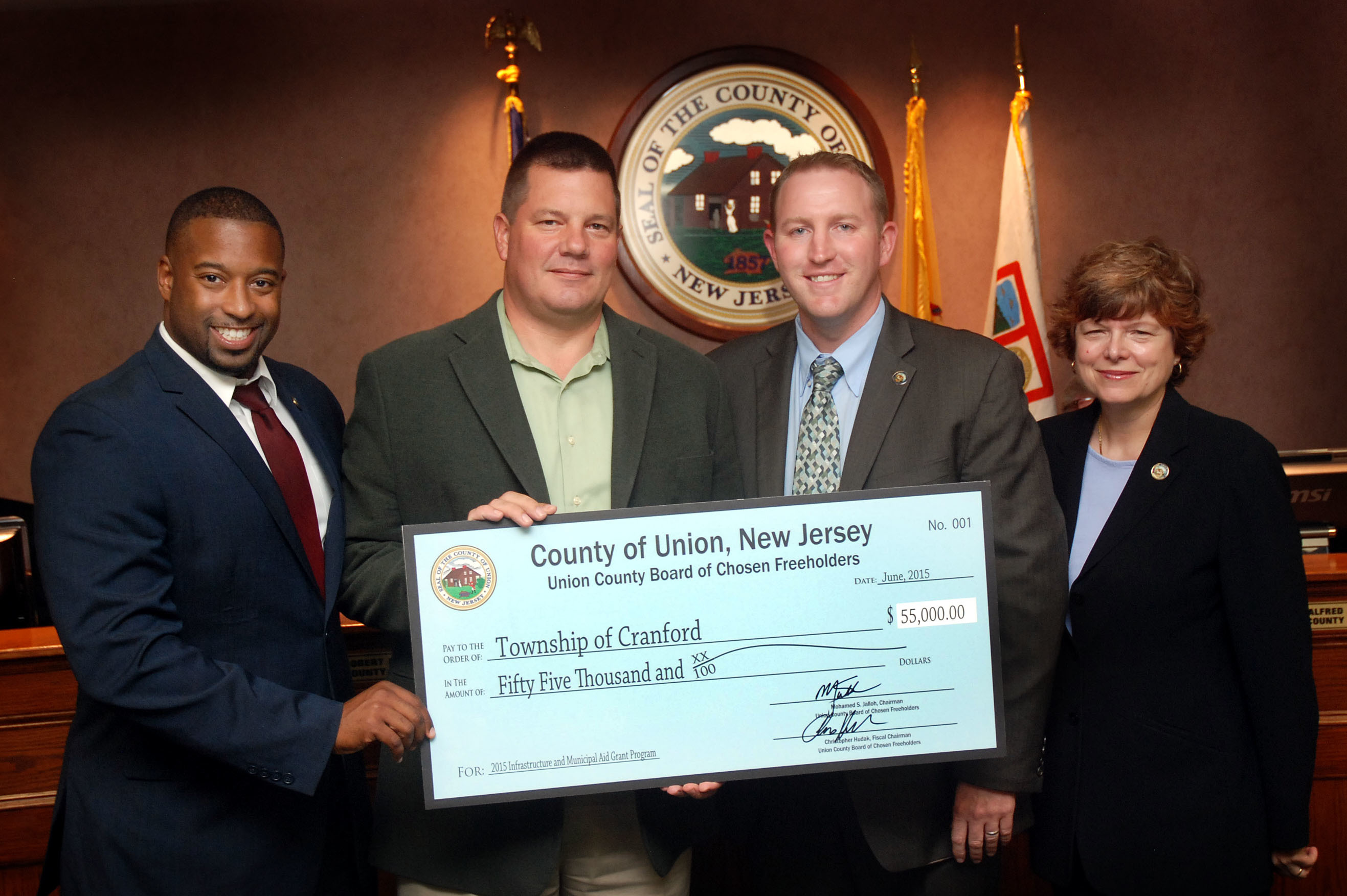 New jersey union county cranford - Union County Nj The Township Of Cranford Was Awarded A 55 000 00 Grant Through The Infrastructure And Municipal Aid Grant By The Union County Board Of